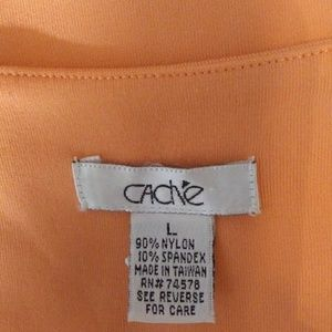 Cache Tops - Cache Orange Square Neck Stretchy Tank Top Large